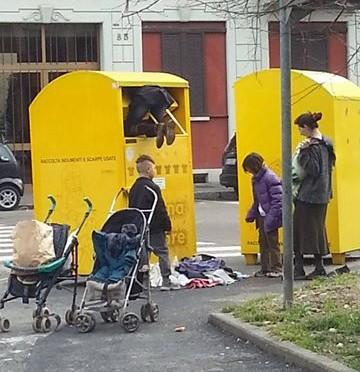 Rom 'al lavoro' a Milano – FOTO