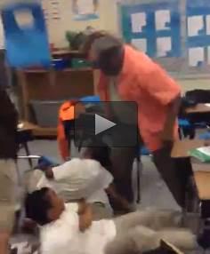 CLASSE MULTIRAZZIALE: PROF COSTRETTO AD UTILIZZARE 'FRUSTA' – VIDEO