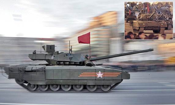 epa04733142 New Russian Armata T-14 tank drives along Tverskaya street during a rehearsal for a military parade in Moscow, Russia, 04 May 2015. The Victory Day parade on 09 May 2015 marks the 70th anniversary since the capitulation of Nazi Germany.  EPA/MAXIM SHIPENKOV
