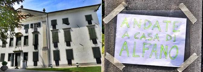 Gli mandano i 'profughi': villa listata a lutto – FOTO