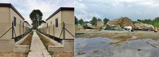 Milano: differenza di trattamento per Militari e Rom, ecco i 2 villaggi – FOTO