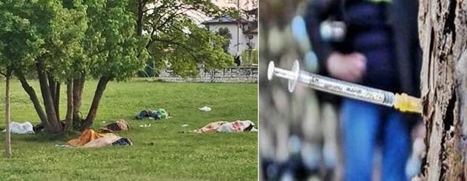 Udine: dove c'era un parco, ora c'è un dormitorio di 'profughi' pakistani  – FOTO