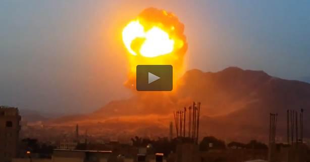 Inquietante esplosione dopo bombardamento saudita – VIDEO – FOTO