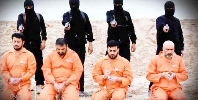 STRAGE ISLAMICA IN IRAQ: ISIS 'GIUSTIZIA' 4 OPPOSITORI