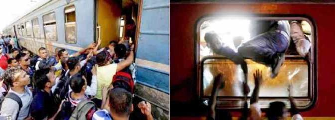 Migliaia di clandestini islamici prendono d'assalto treni diretti in Europa – FOTO