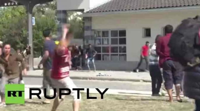 Croazia: profughi assaltano bus, si scontrano tra loro – VIDEO