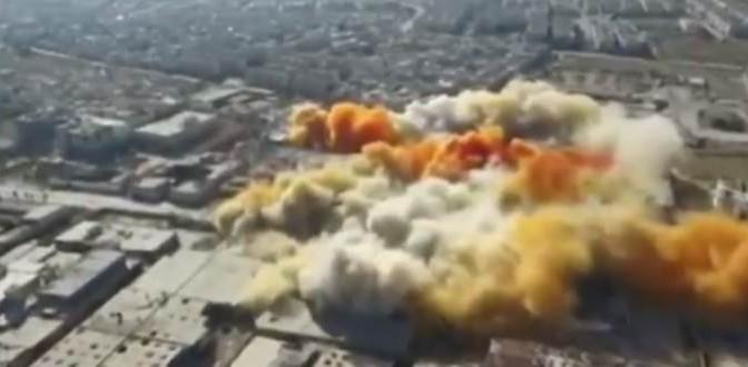 """Siria: """"Bombardamento USA colpisce deposito chimico Isis, Centinaia civili morti"""""""