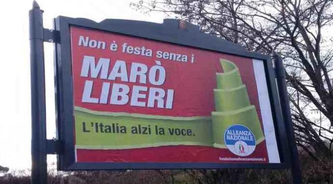 Triste polemica sui cartelloni pro marò