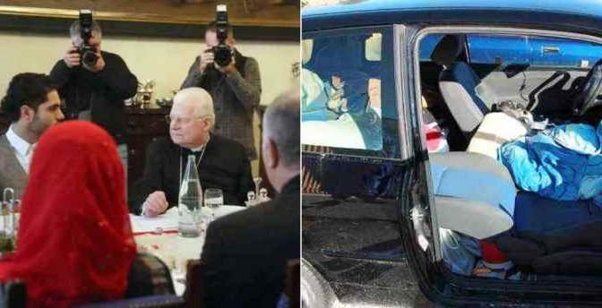 Mentre Marco moriva di freddo, Cardinale era a pranzo con 9 islamici