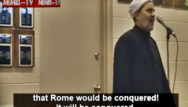 "Imam: ""Roma sarà islamica come promesso da Maometto"" – VIDEO"