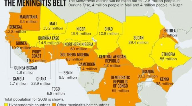 AFRICA SUB-SAHARIANA: DOVE MENINGITE E' ENDEMICA