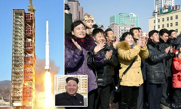 A North Korean long-range rocket is launched, in this still image taken from KRT video footage, released by Yonhap on February 7, 2016.  REUTERS/Yonhap   ATTENTION EDITORS - THIS IMAGE HAS BEEN SUPPLIED BY A THIRD PARTY. FOR EDITORIAL USE ONLY. NOT FOR SALE FOR MARKETING OR ADVERTISING CAMPAIGNS. SOUTH KOREA OUT. NO COMMERCIAL OR EDITORIAL SALES IN SOUTH KOREA. FOR EDITORIAL USE ONLY. NO RESALES. NO ARCHIVE. THIS PICTURE IS DISTRIBUTED EXACTLY AS RECEIVED BY REUTERS, AS A SERVICE TO CLIENTS.