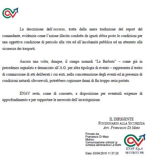 CLICCA PER DOCUMENTO PDF DENUNCIA