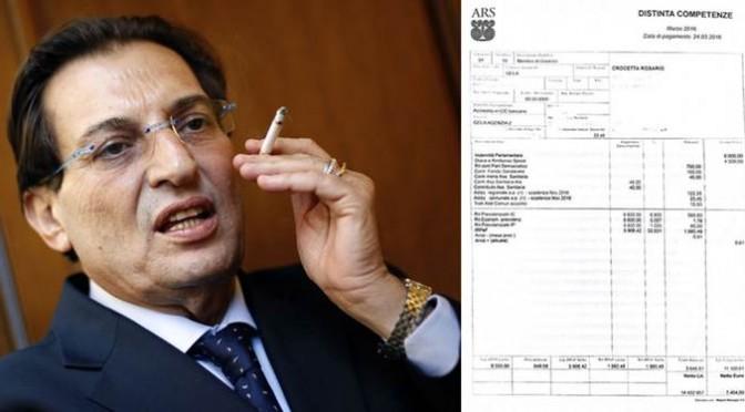 Lo stipendio monstre di Crocetta: 120mila euro