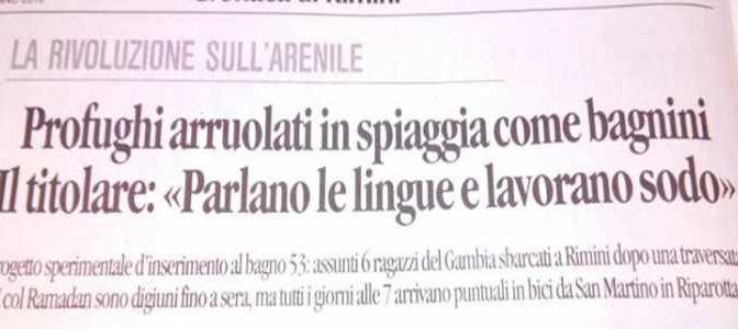 Rimini: Bagno 53 sostituisce lavoratori italiani con profughi africani!