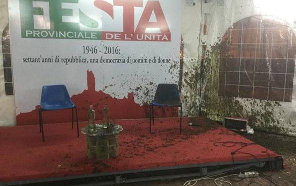 TOSCANA: ROSSI (PD) RICOPERTO DI LETAME LANCIATO DA CITTADINO