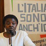 """Il ministro per l'Integrazione, Cecile Kyenge, durante un'iniziativa per la Festa della Repubblica 'L'Italia sono anch'io"""", Firenze, 31 maggio 2013. ANSA/MAURIZIO DEGL' INNOCENTI"""