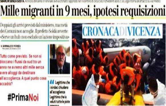 VICENZA: GOVERNO PRONTO A REQUISIRE HOTEL PER OSPITARE AFRICANI