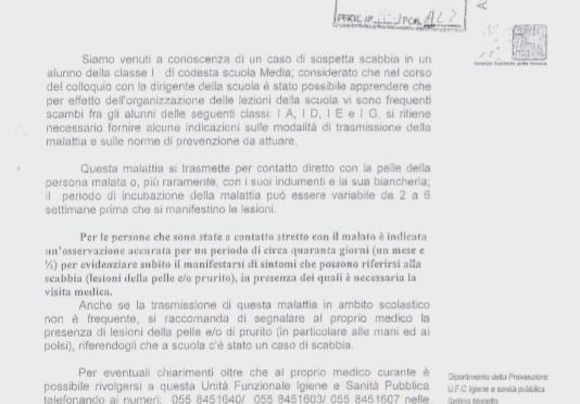 ACCOGLIENZA DIFFUSA FUNZIONA: EMERGENZA SCABBIA IN SCUOLE TOSCANE