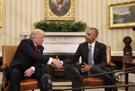 """Trump avverte Hussein Obama: """"Ora il Presidente sono io"""""""