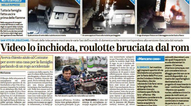 Derubò Ermes Mattielli: Rom brucia roulotte per ottenere casa popolare