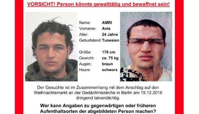 TERRORISTA TUNISINO BERLINO BRUCIO' SCUOLA IN ITALIA: 4 ANNI CARCERE