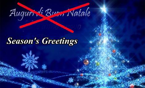 """UE cancella il Natale, sostituito da """"Buone Vacanze"""""""