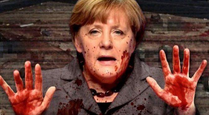 Merkel premiava migranti islamici durante attacco Berlino – FOTO – VIDEO