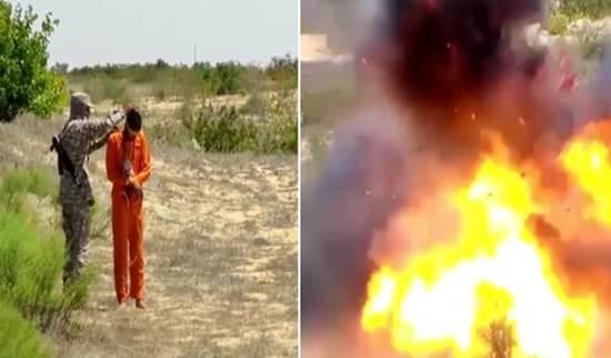PRIGIONIERO FATTO SALTARE IN ARIA DA ISIS – VIDEO CHOC