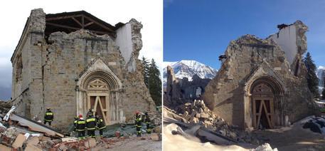 Amatrice, nuovo sisma: crolla parete S.Agostino – FOTO