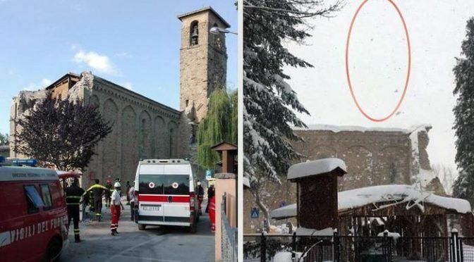 Terremoto, allevatori dispersi: crolla campanile Amatrice