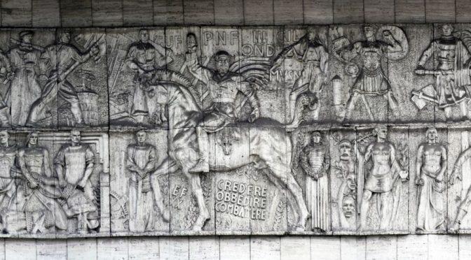 PD iconoclasta: coperto bassorilievo Mussolini perché turba i Tedeschi