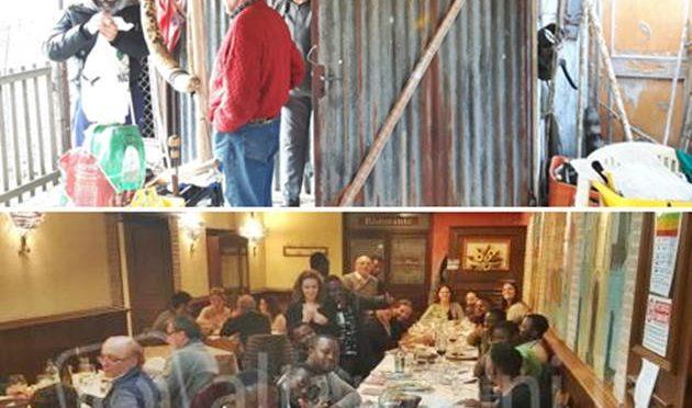 Coppia 70enni vive in baracca, sindaco a cena coi profughi – FOTO