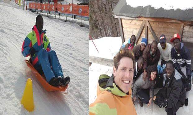 Corsi di Bob sulla neve per i profughi – FOTO