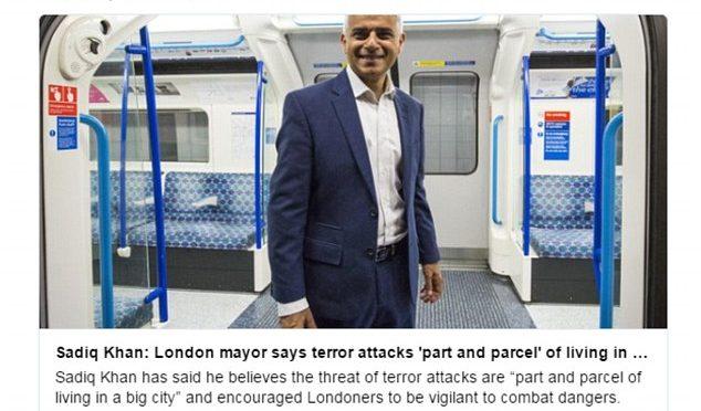 Khan, il sindaco musulmano che non condanna il terrorismo islamico