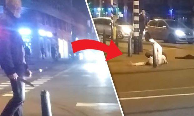 """ISLAMICO ARMATO DI MACHETE ATTACCA AGENTI AL GRIDO """"ALLAHU AKBAR"""" – VIDEO"""