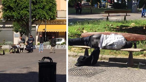 Migrante dorme seminudo fuori dalla chiesa – FOTO
