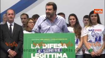 """Salvini: """"Altro che Liberazione, Italia è occupata da Ue"""" – VIDEO"""