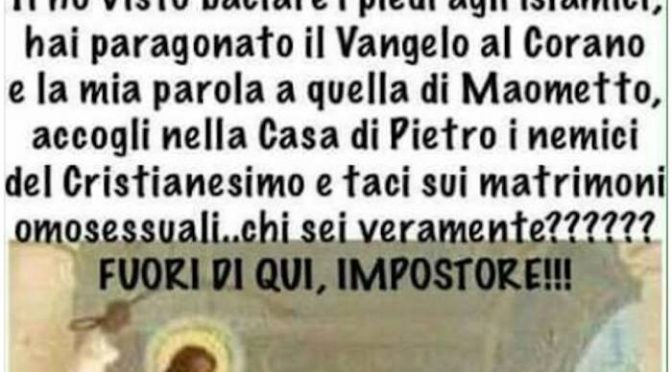 Chiedono le sue dimissioni per un post contro Bergoglio