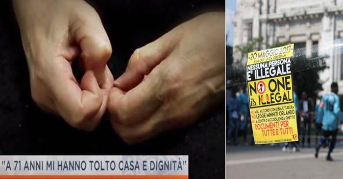 Milano, Enrica non ha casa e loro marciano per gli immigrati – VIDEO