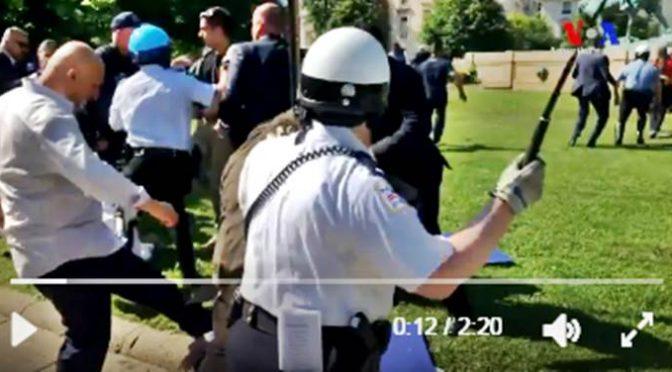Gorilla Erdogan scatenano rissa contro Curdi, agenti americani usano manganelli – VIDEO