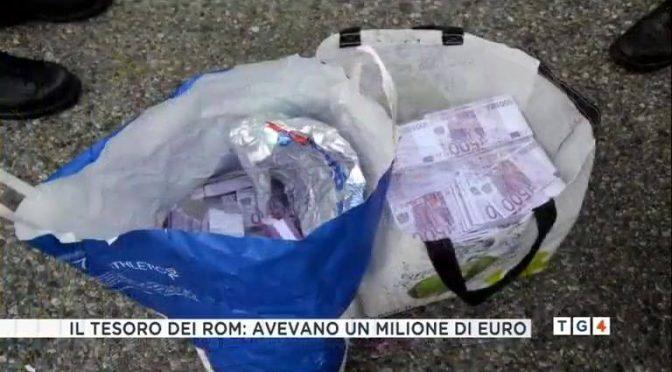 Rom si dichiaravano nullatenenti, spunta 1 milione di euro – VIDEO