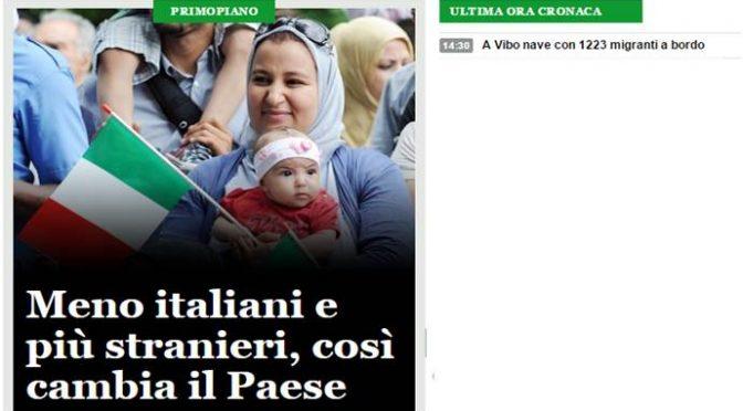 Ansa celebra il genocidio degli Italiani con un piccolo 'kamikaze' in copertina