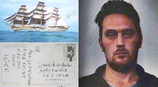 """La cartolina beffa di """"Igor"""" ai carabinieri: """"Addio Italia merda: soldati fate schifo"""""""