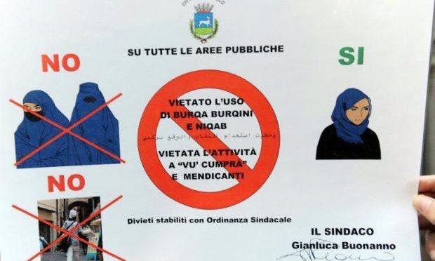 Rovigo è città 'burqa free': sarà bandito da tutte aree pubbliche il sacco islamico
