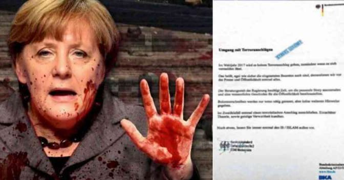 "Svelati documenti riservati su attentati islamici, Merkel: ""Negare tutto, inventarsi notizie"""