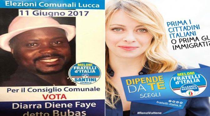 Lucca, voti Meloni, e ti trovi il Senegalese in Comune