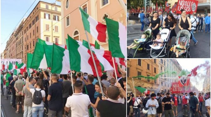 GRANDE MARCIA CONTRO IUS SOLI A ROMA – DIRETTA VIDEO