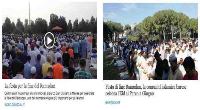 RAMADAN, l'invasione è già iniziata: piazze occupate in tutta Italia – VIDEO