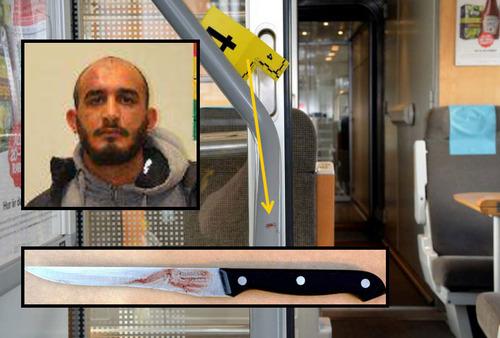 """Controllore chiede biglietto a donna velata, islamico accoltella passeggeri: """"E' razzismo!"""""""
